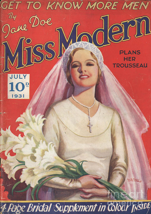 1930s Drawing - Miss Modern 1931 1930s Uk   Brides by The Advertising Archives
