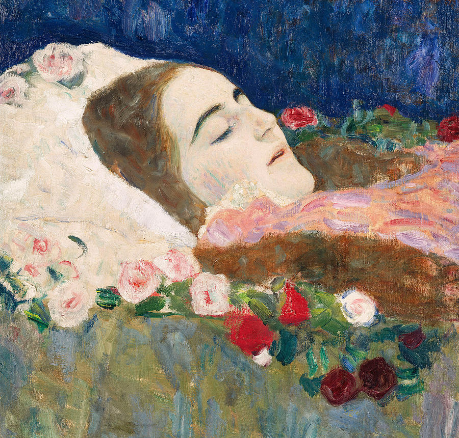 Gustav Klimt Painting - Miss Ria Munk On Her Deathbed by Gustav Klimt