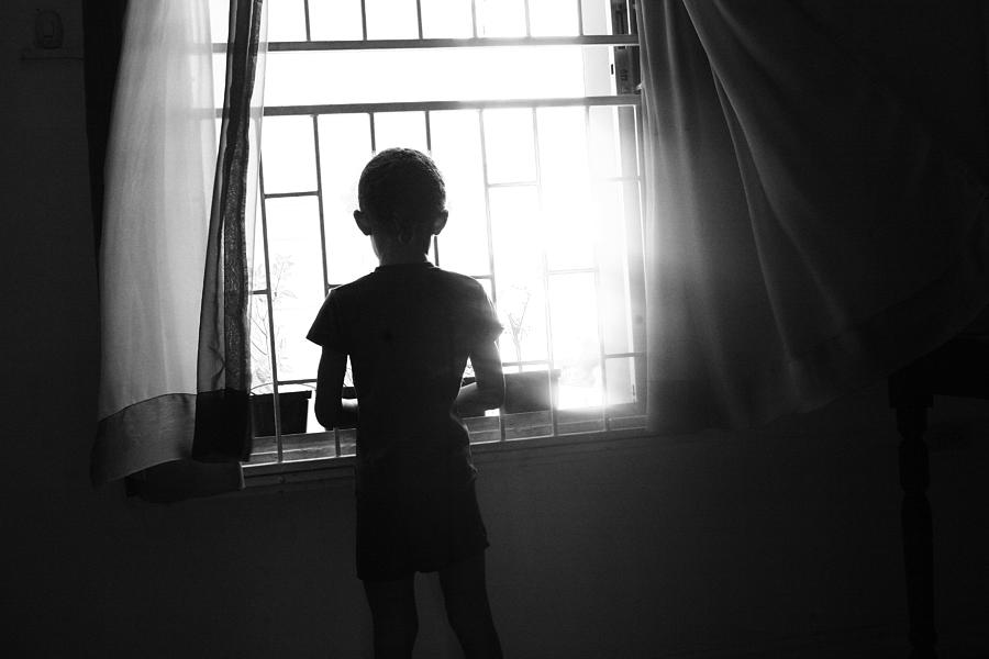 Child Photograph - Missing Daddy by Dexter Browne