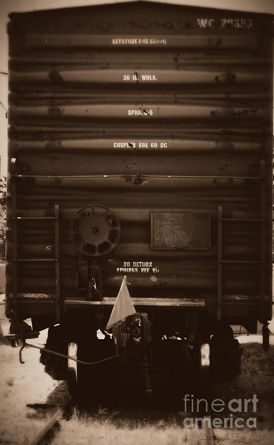Train Cars Photograph - Missing Its Caboose by Deborah Fay