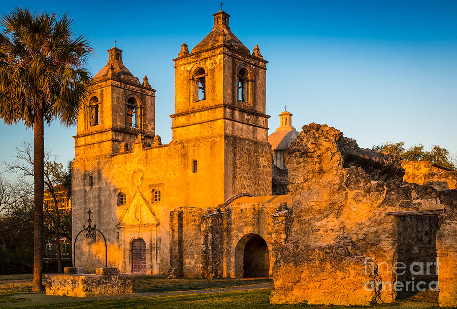 America Photograph - Mission Concepcion by Inge Johnsson