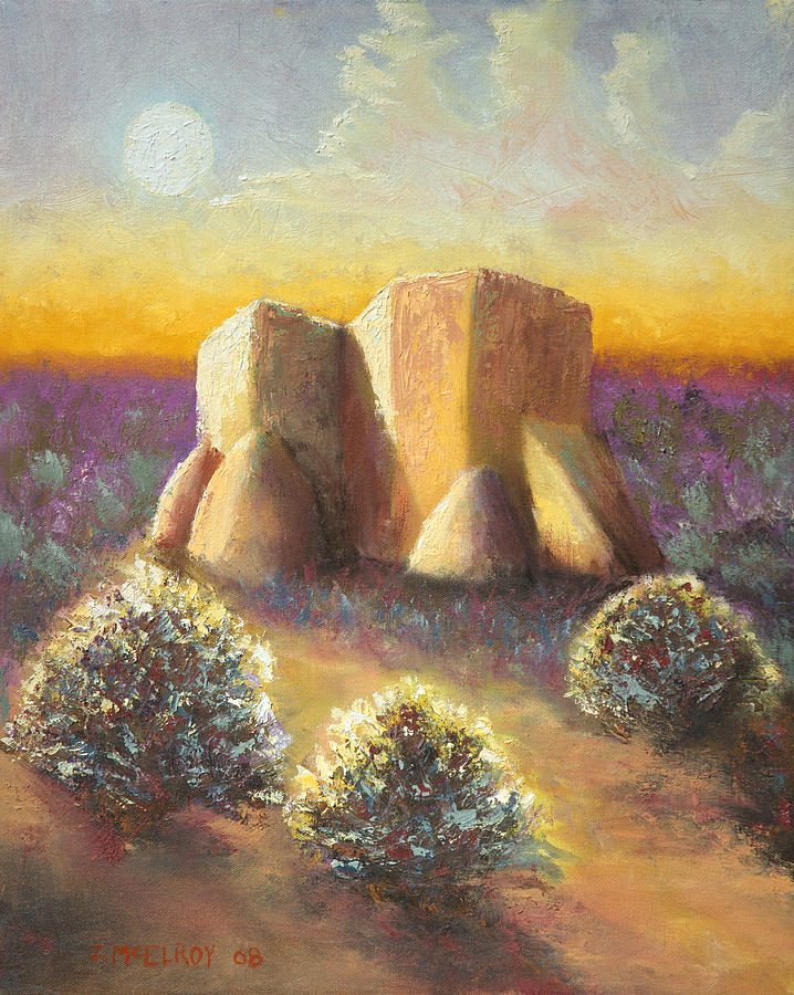 Landscape Painting - Mission Imagined by Jerry McElroy