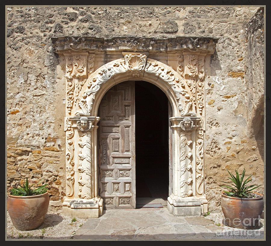 Doorway Photograph - Mission San Jose Chapel Entry Doorway by John Stephens