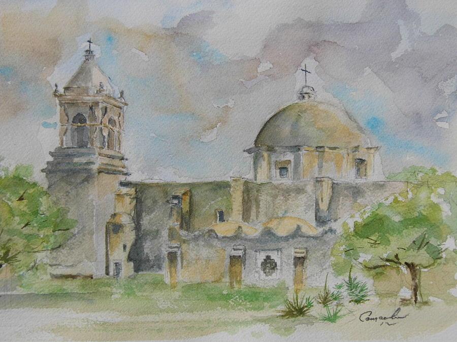 World Heritage Painting - Mission San Jose by David Camacho