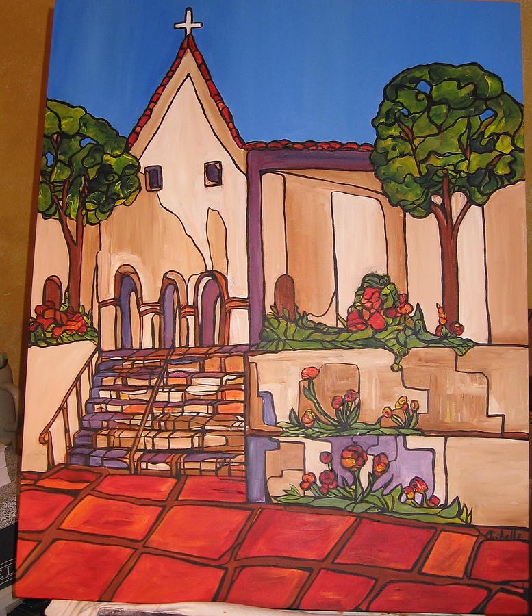 Landscape Painting - Mission San Luis Opispo by Michelle Gonzalez