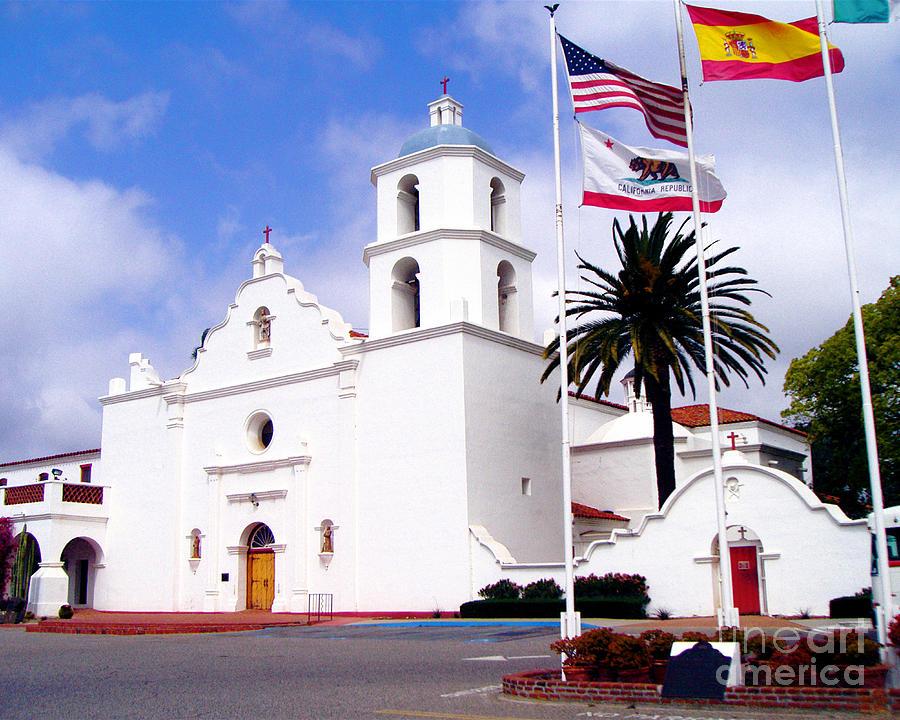 Mission Photograph - Mission San Luis Rey by Jerome Stumphauzer