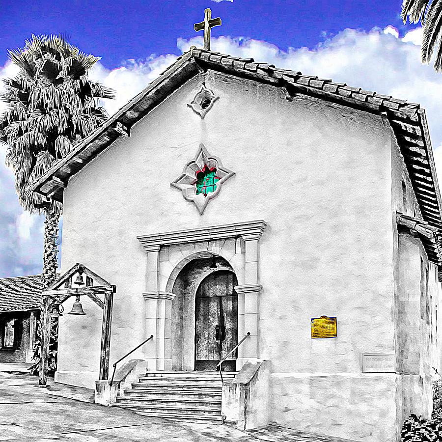 Mission San Rafael Digital Art - Mission San Rafael Arcangel by Ken Evans