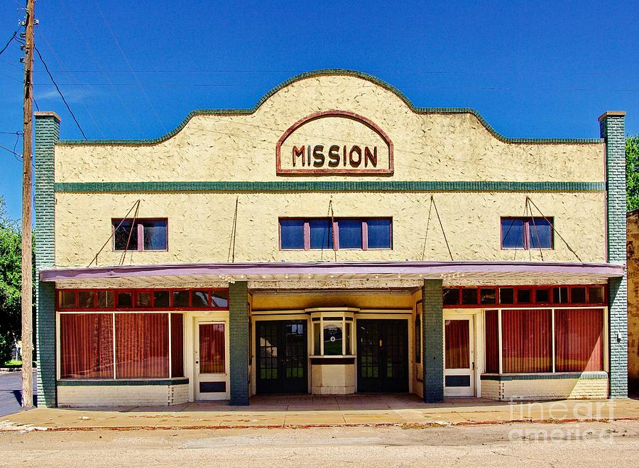 Theater Photograph - Mission Theater by Gary Richards