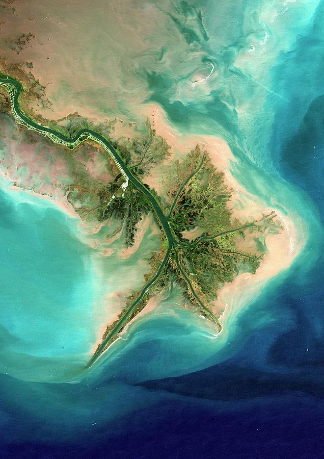 Mississippi River Photograph - Mississippi Delta by Planetobserver
