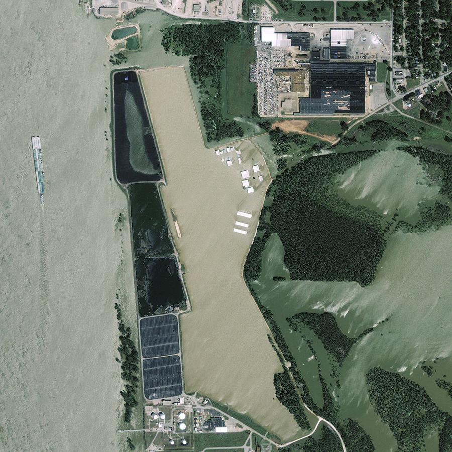 Satellite Photograph - Mississippi Flooding, Usa by Science Photo Library