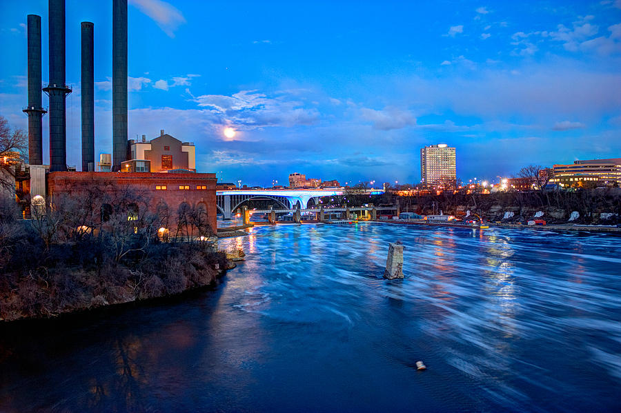 Mn River Photograph - Mississippi Moonlight by Amanda Stadther