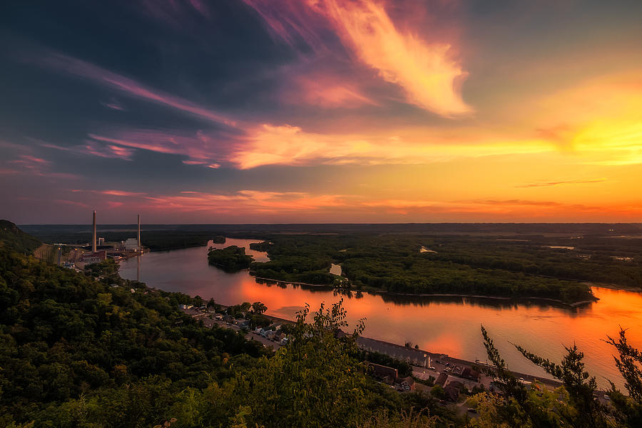 Mississippi River Evening Photograph