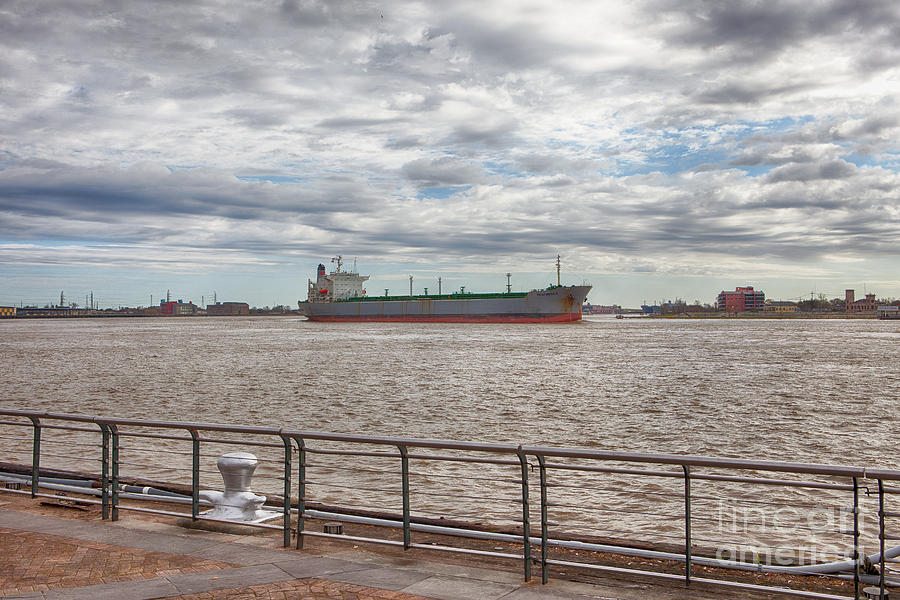 New Orleans Photograph - Mississippi River In New Orleans by Kay Pickens