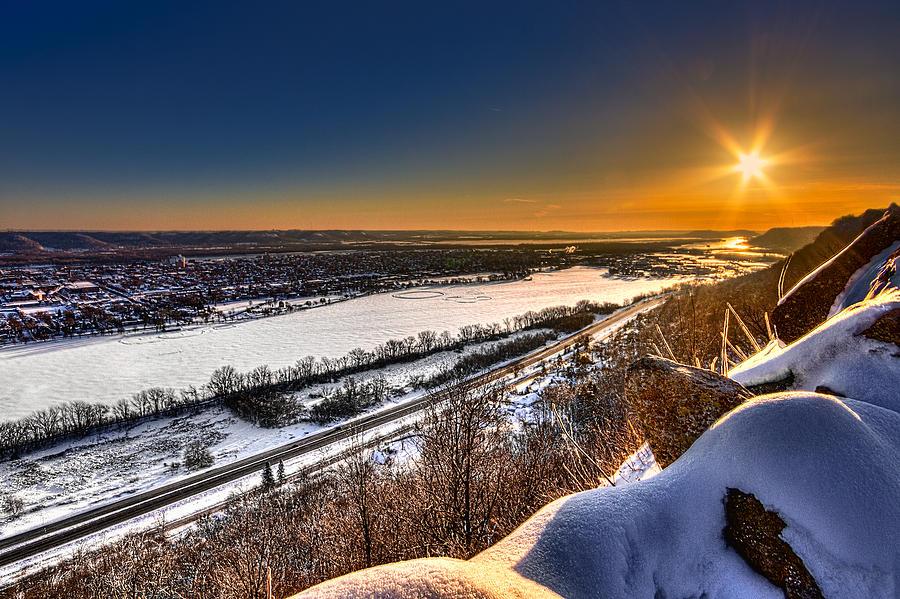 Mississippi River Sunrise Photograph