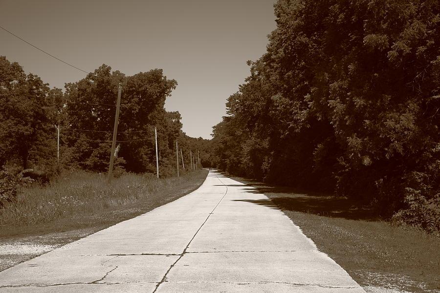 66 Photograph - Missouri Route 66 2012 Sepia. by Frank Romeo