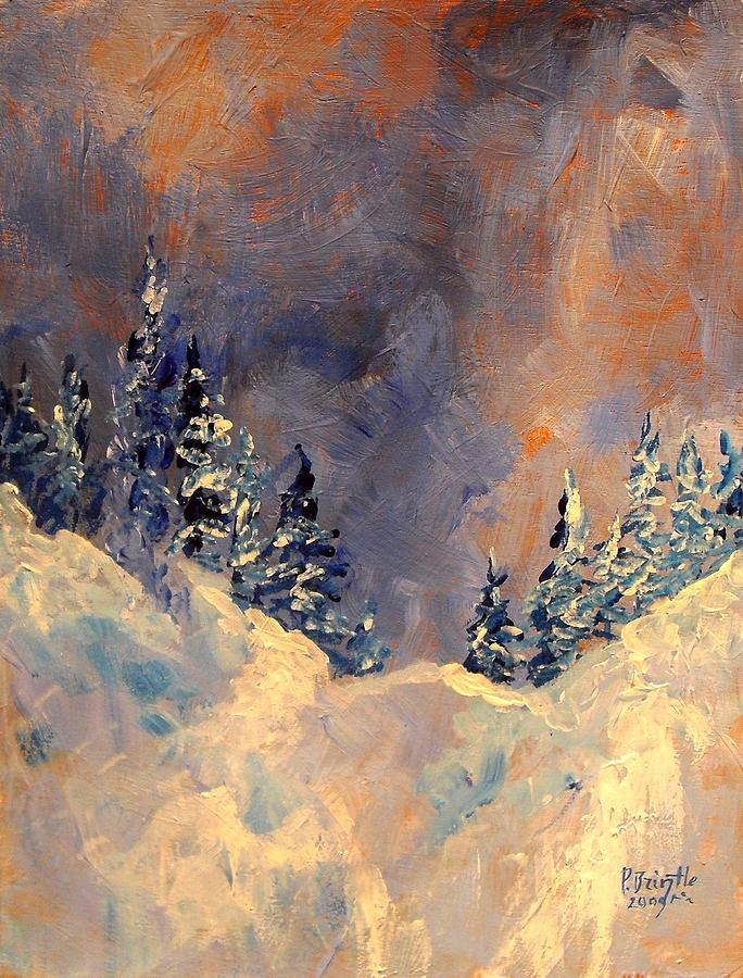 Winter Painting - Mist On The Snow Peak by Patricia Brintle