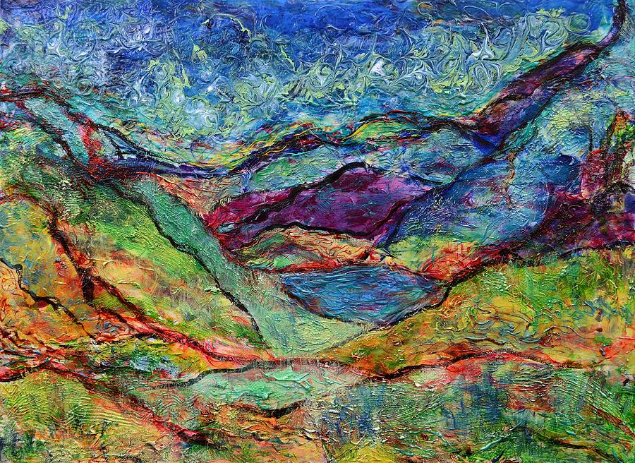 Mountain Painting - Misted Mountains by Regina Valluzzi