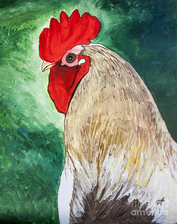 Cock Painting - Mister Big Guy by Janice Rae Pariza