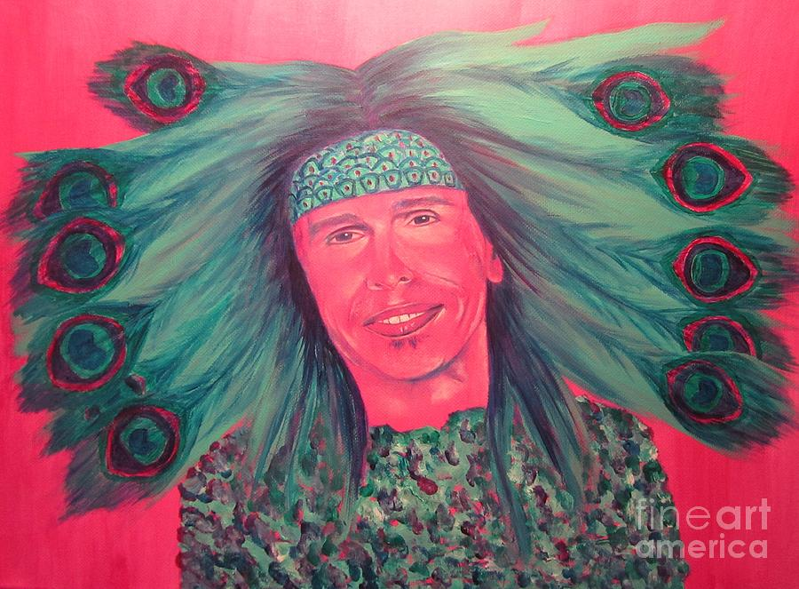 Steven Tyler Painting - Mister Peacock by Jeepee Aero