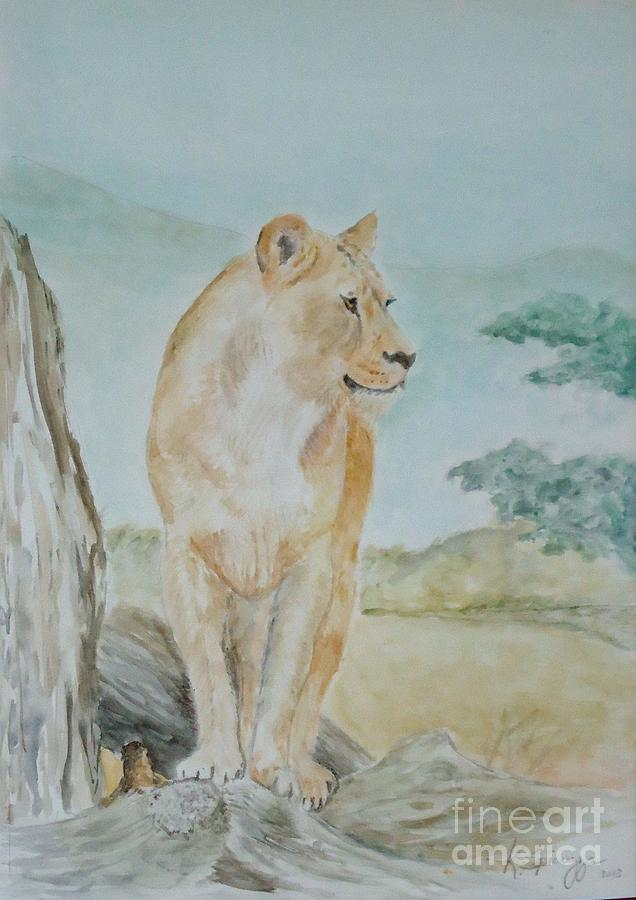Watercolor Painting - Mistress Of All She Surveys by Katie Spicuzza