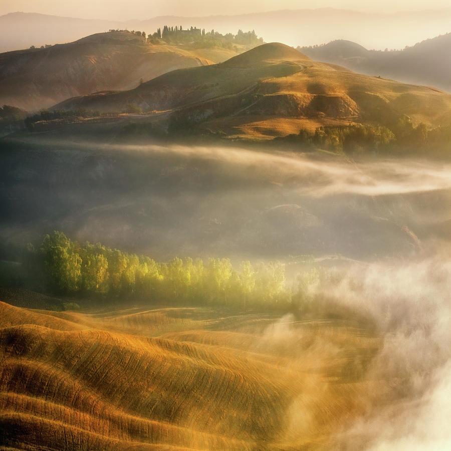 Tuscany Photograph - Mists... by Krzysztof Browko