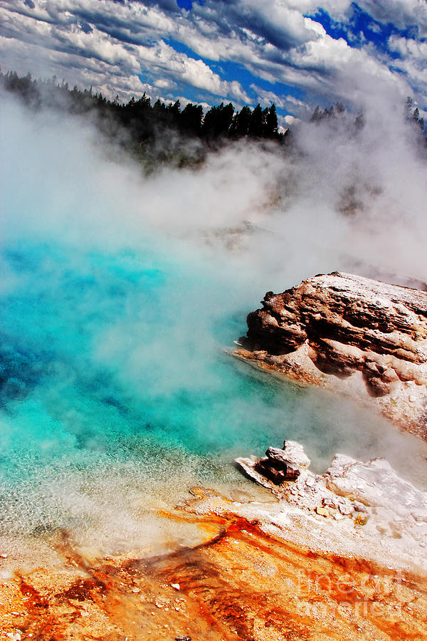 Yellowstone Photograph - Mists of Another World by Lincoln Rogers