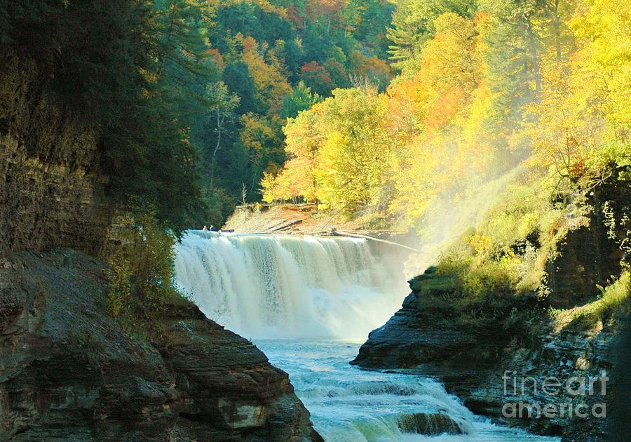 Letchworth Photograph - Misty 2 by Kathleen Struckle