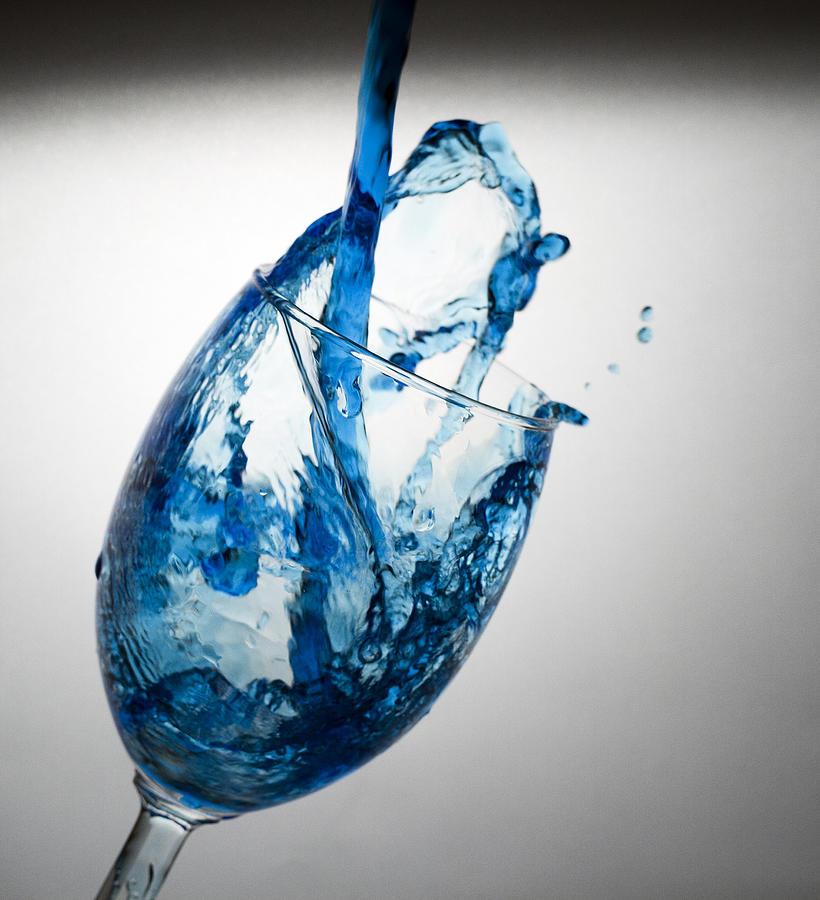 Wine Digital Art - Misty Blue by John Hoey