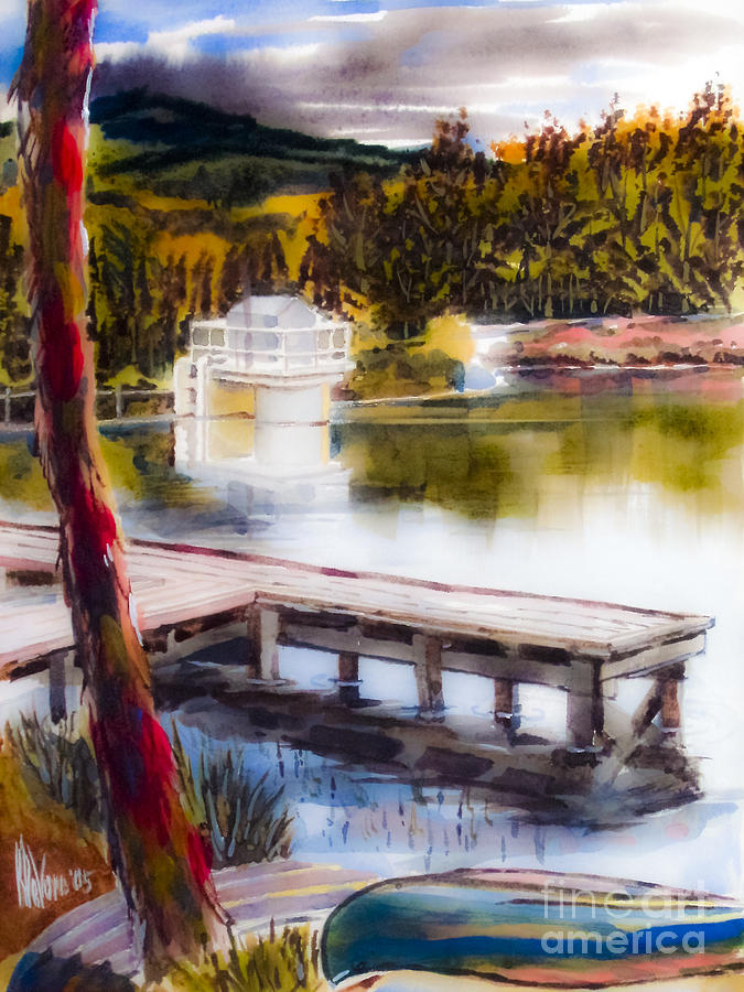 Lake Painting - Misty Dream by Kip DeVore
