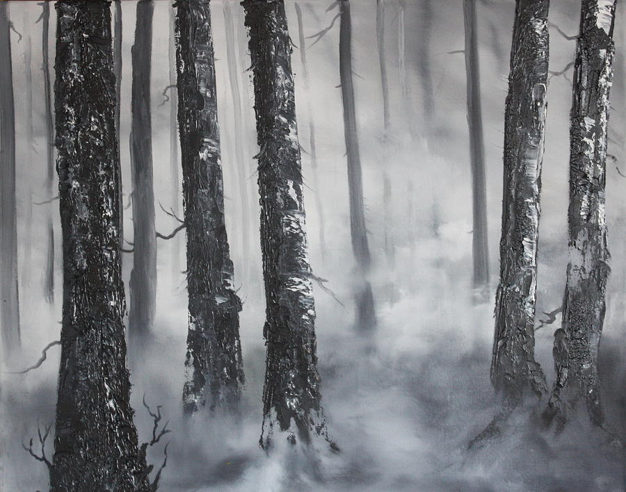 Misty Forest Painting By Jean Walker
