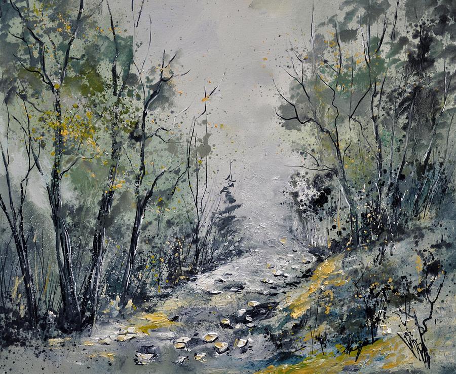 Landscape Painting - Misty Forest by Pol Ledent