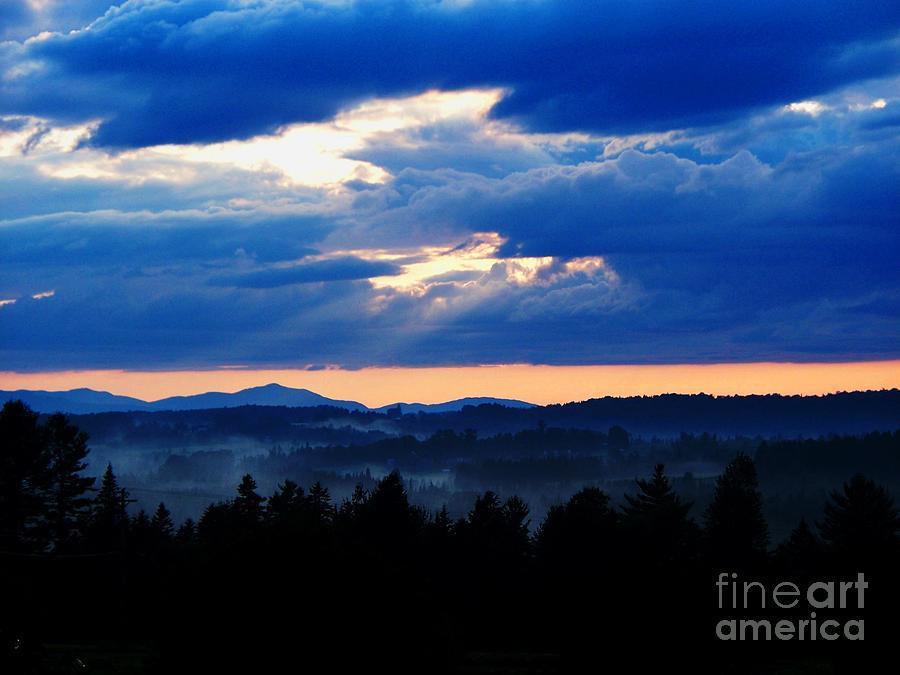 Misty Hills Photograph by Steven Valkenberg