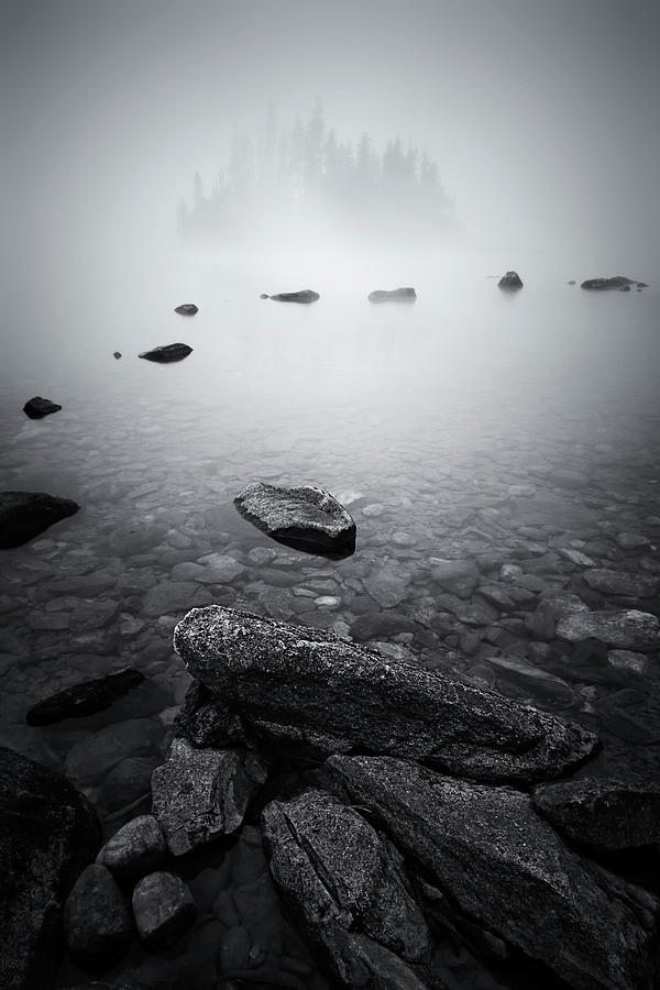 Lake Photograph - Misty Lake by Lydia Jacobs