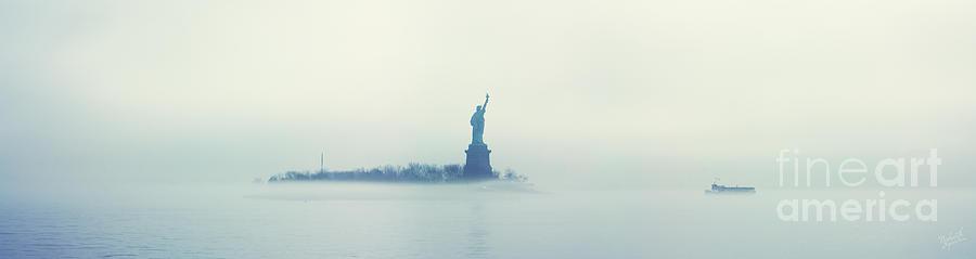 Liberty Island Photograph - Misty Liberty by Nishanth Gopinathan