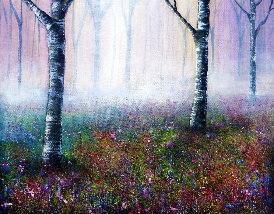 Nature Painting - Misty Memories by Ann Marie Bone