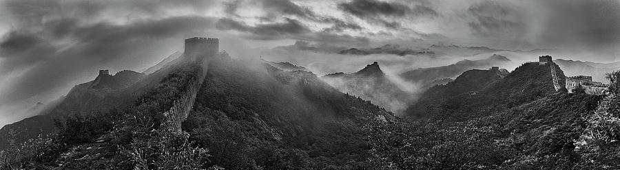 China Photograph - Misty Morning At Great Wall by Yan Zhang