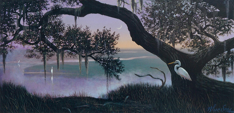 Seabrook Island Painting - Misty Morning At Seabrook by Blue Sky