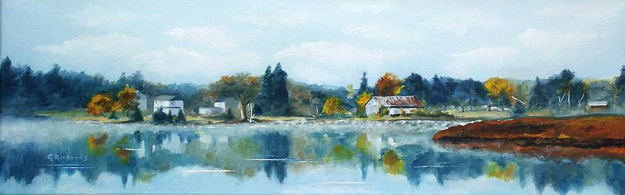 Landscape Painting - Misty Morning by Cathleen Richards-Green