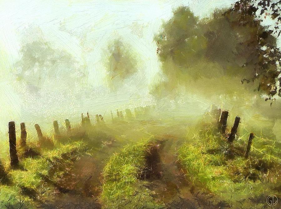 Landscape Digital Art - Misty Morning by Gun Legler