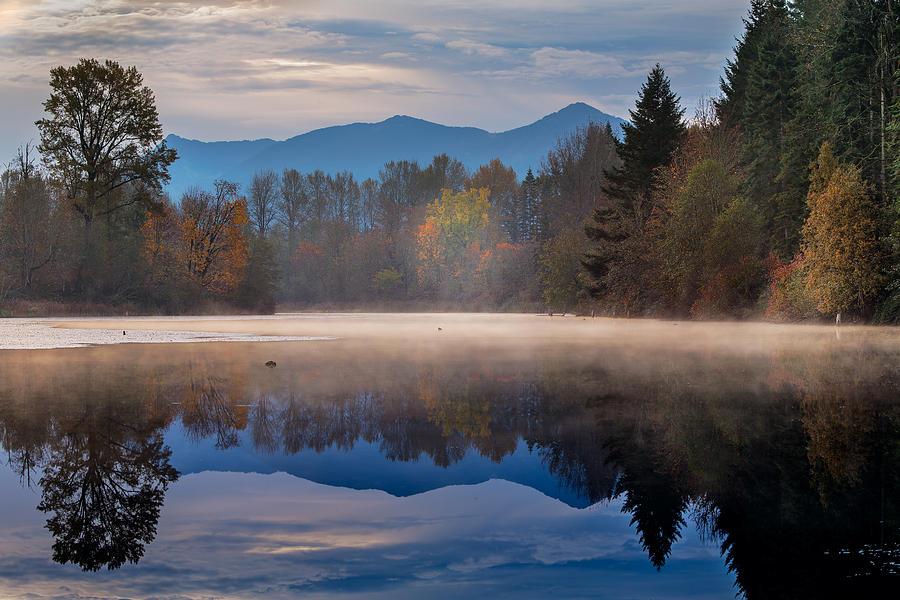 Washington Photograph - Misty Morning by Manju Shekhar