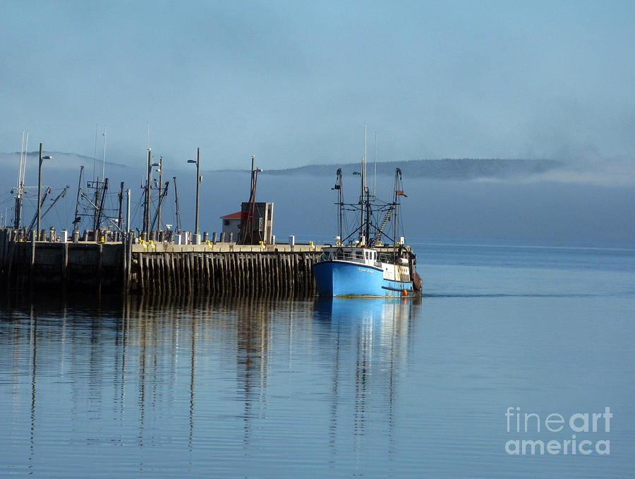 Boat Photograph - Misty Morning by Patricia Januszkiewicz