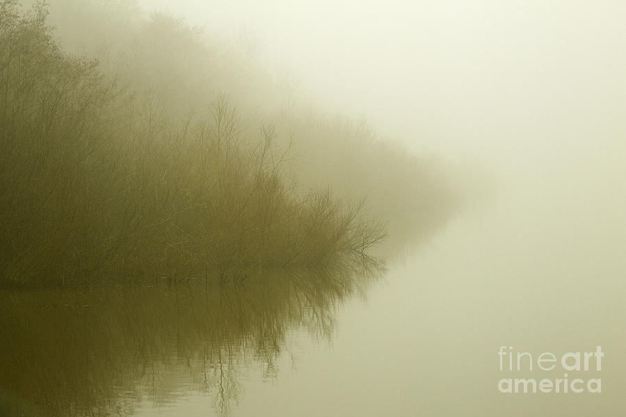 Morning Photograph - Misty Morning Reflection. by Clare Bambers