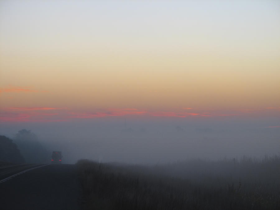 Fog Photograph - Misty Morning Road by Wendy J St Christopher