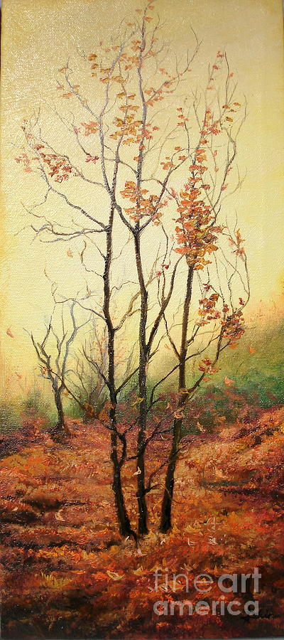 Autumn Painting - Misty Morning by Sorin Apostolescu