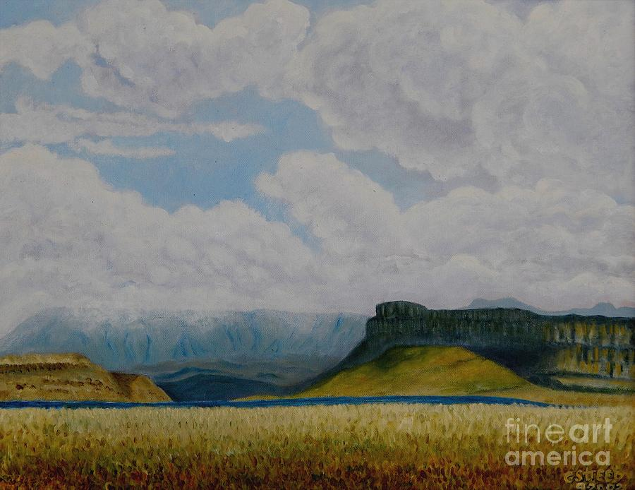 Mountains Painting - Misty Mountain by Caroline Street