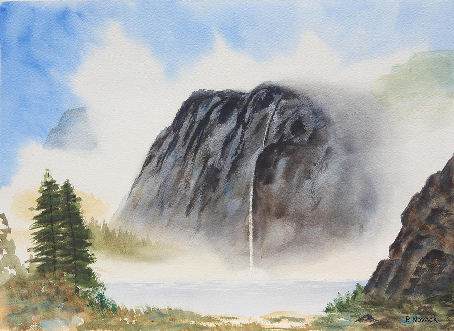 Mountain Painting - Misty Mountain by Patricia Novack
