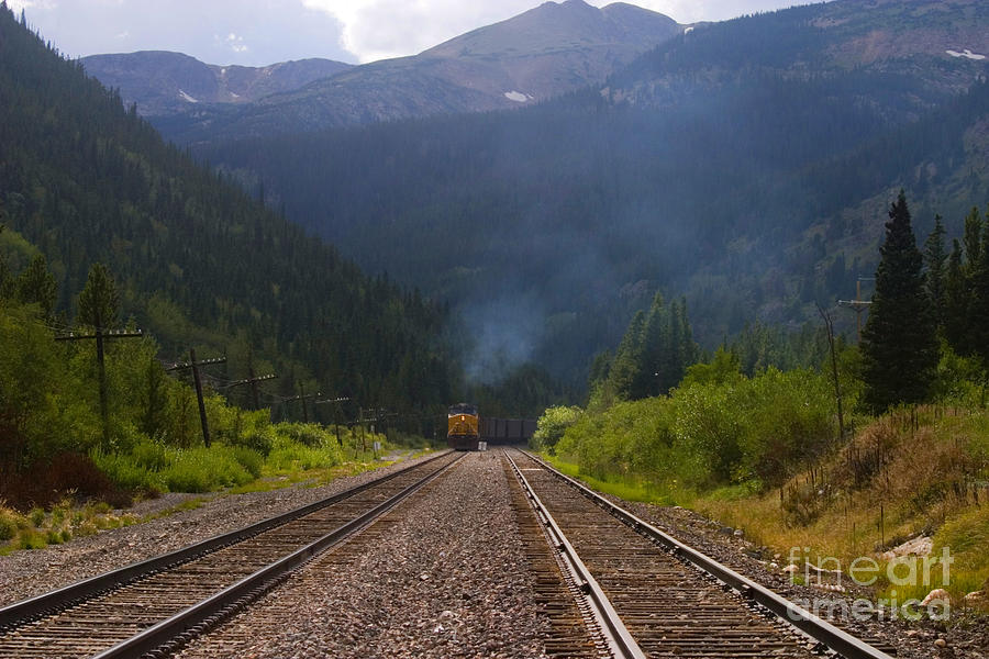 Misty Mountain Train Photograph