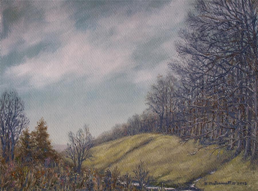 Valley Painting - Misty Mountain Valley by Kathleen McDermott