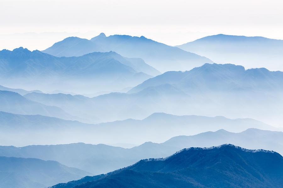 Landscape Photograph - Misty Mountains by Gwangseop Eom