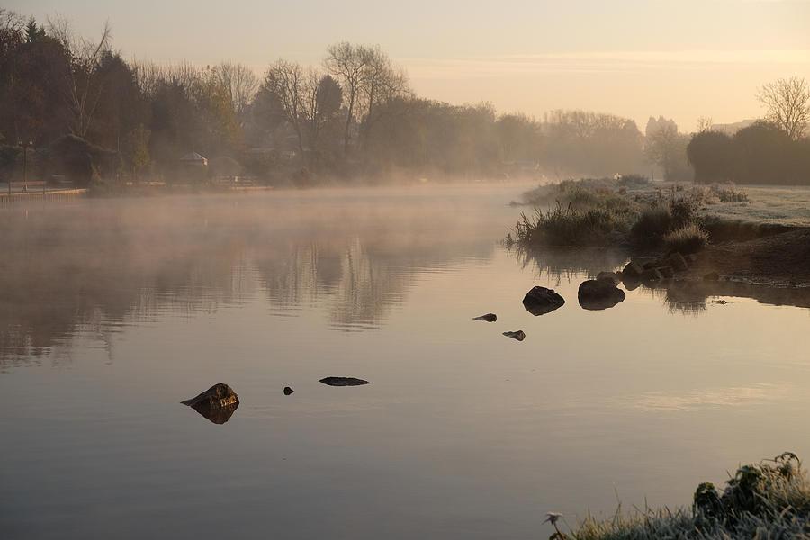 Fog Photograph - Misty River by Mark Severn
